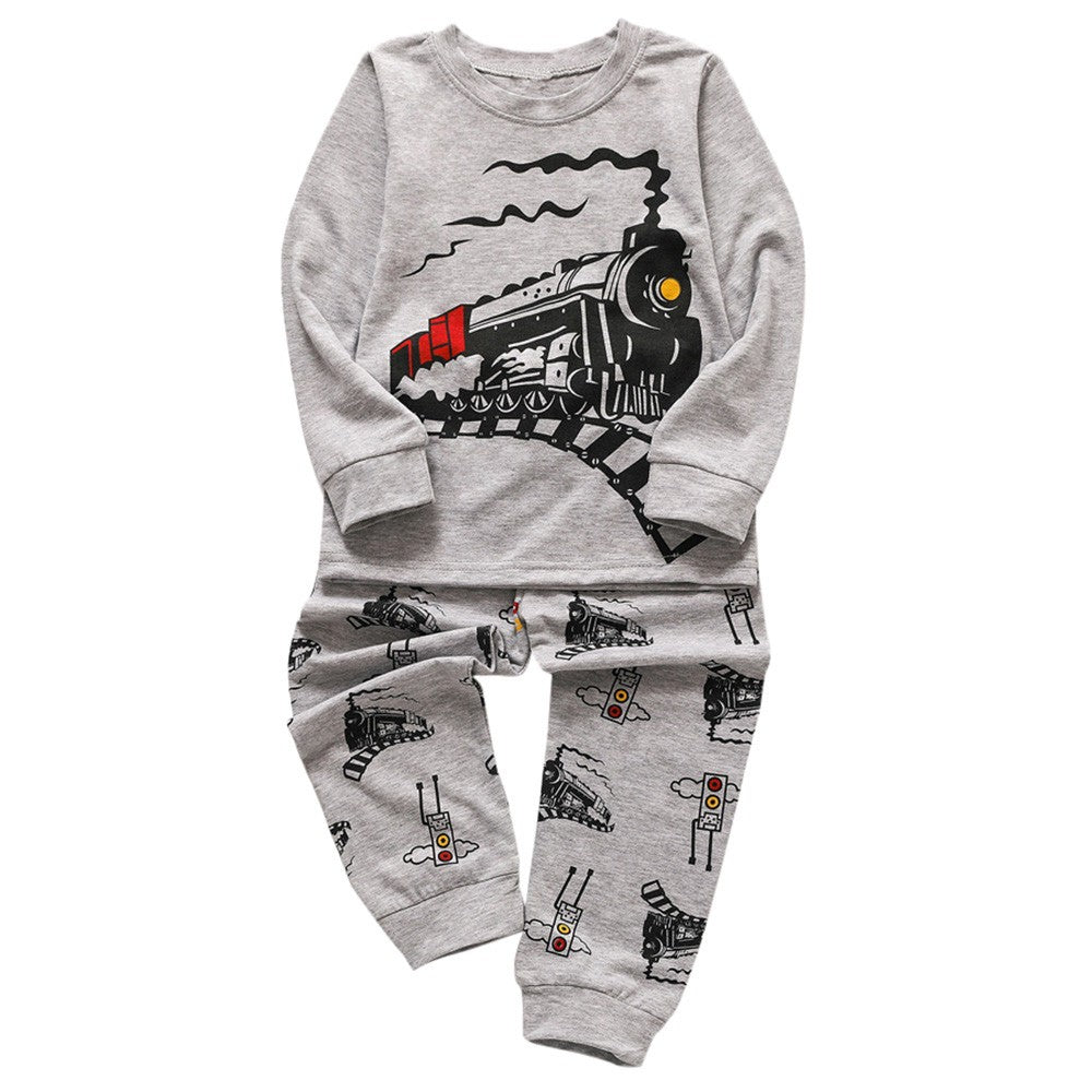 Train Boys Sleepwear Set