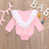 Baby Girl Bodysuit Lace Ruffled (2 Colors Available)