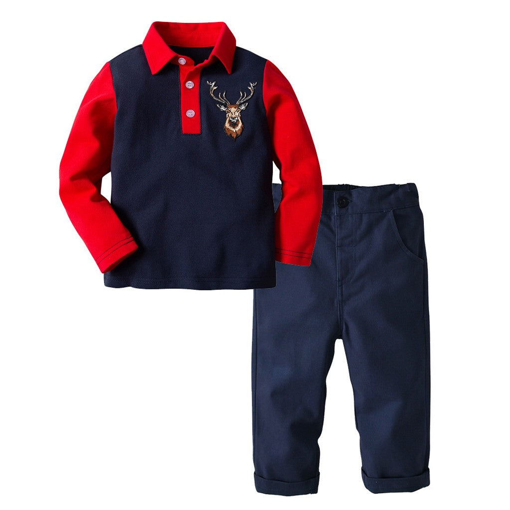 Casual Polo Boys Outfit Set