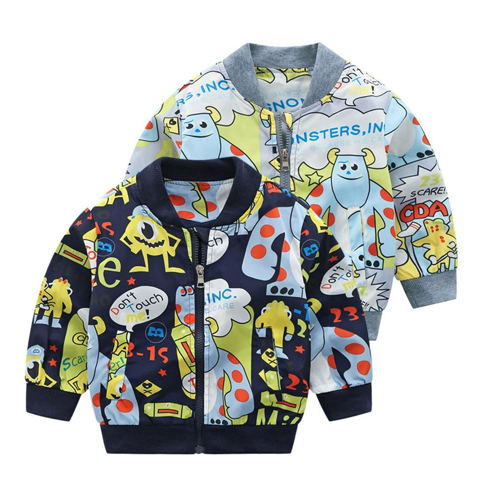 Cartoon Baby Boy Jacket (2 Colors)