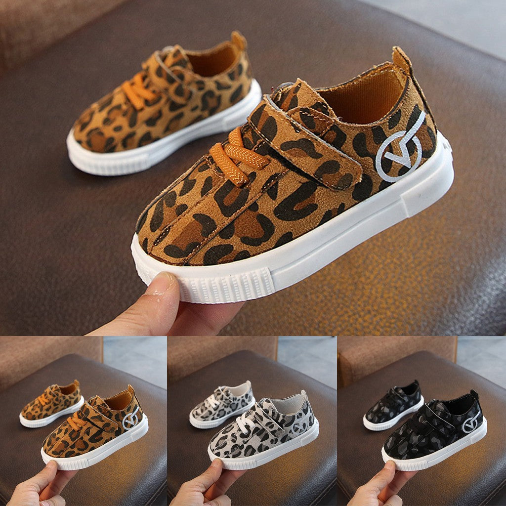 Leopard Girls Shoes (3 colors)