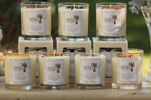 Hand Made Soy Wax Candles, Clear Jars, 850g.