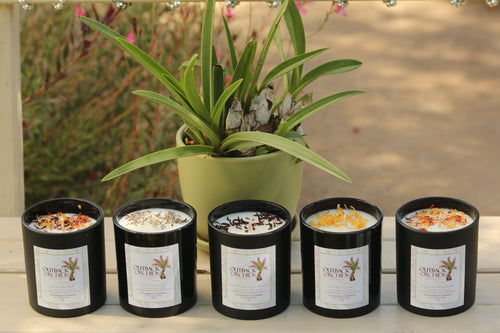Hand Made Soy Wax Candles, Black Jars, 850g.
