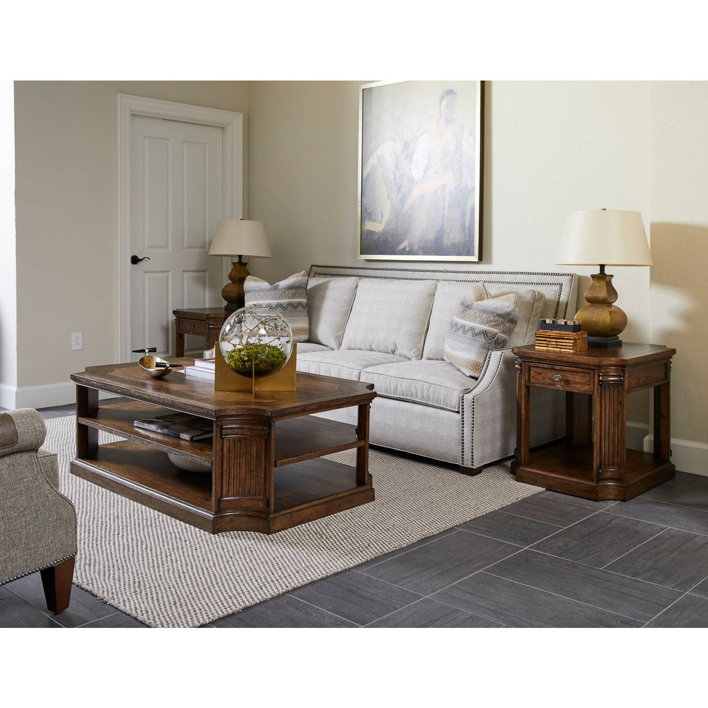 Thoroughbred Grand Cocktail Table Rectangular Stanley Furniture