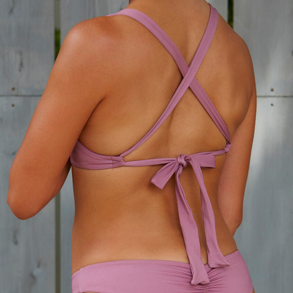 Back Ribbon Bikini Top PNK