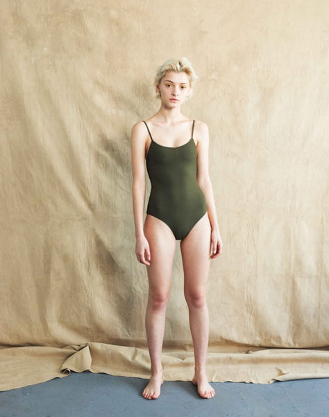 W Ribbon Rib One-Piece
