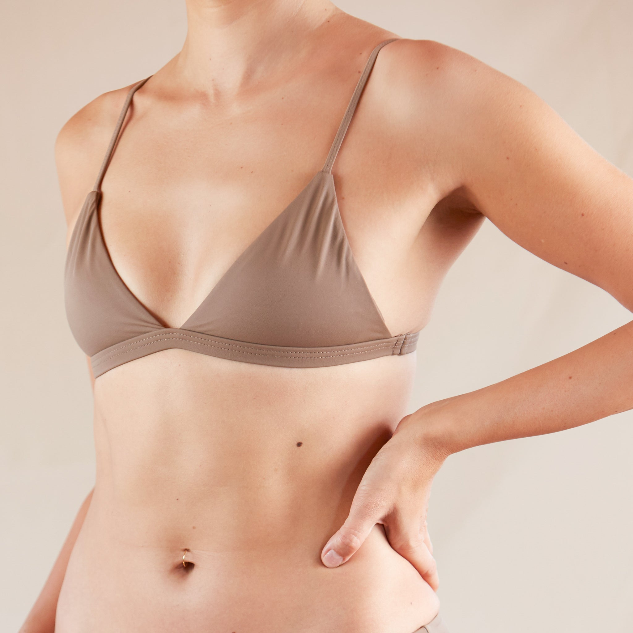 ♻Easy Triangle Bikini Top  Grayish