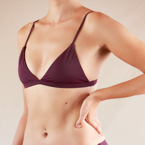 〈NEW〉♻Easy Triangle Bikini Top Grape