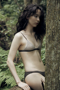 Lace Triangle Bra &  Natural Shorts OLV
