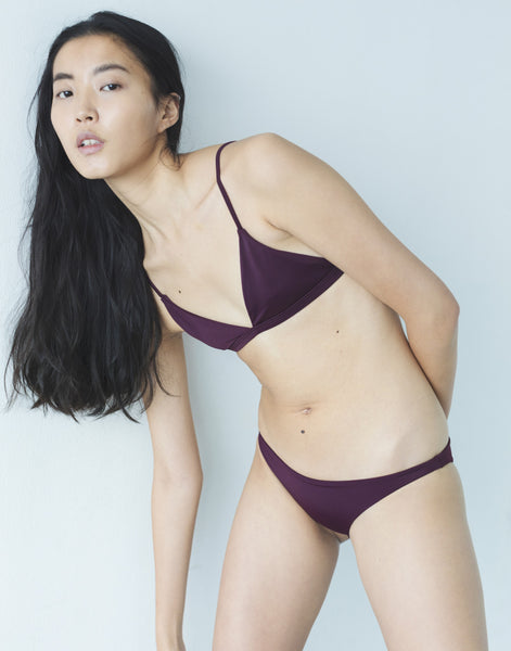 ♻Easy Triangle Bikini Top Grape