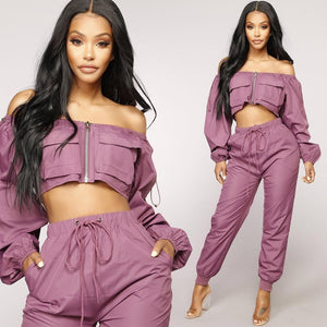 SET PURPLE - PANTALONI SI TOP