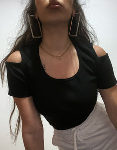 TOP 'CUT OUT' BLACK