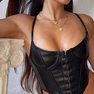 CORSET 'LEATHER QUEEN'