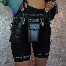 Load image into Gallery viewer, XBABES BLACK LEATHER WAIST BAG