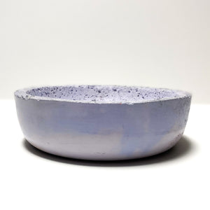 Glass Accent Small Concrete Bowl
