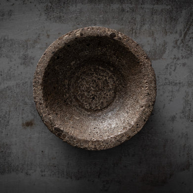 Raw concrete bowl
