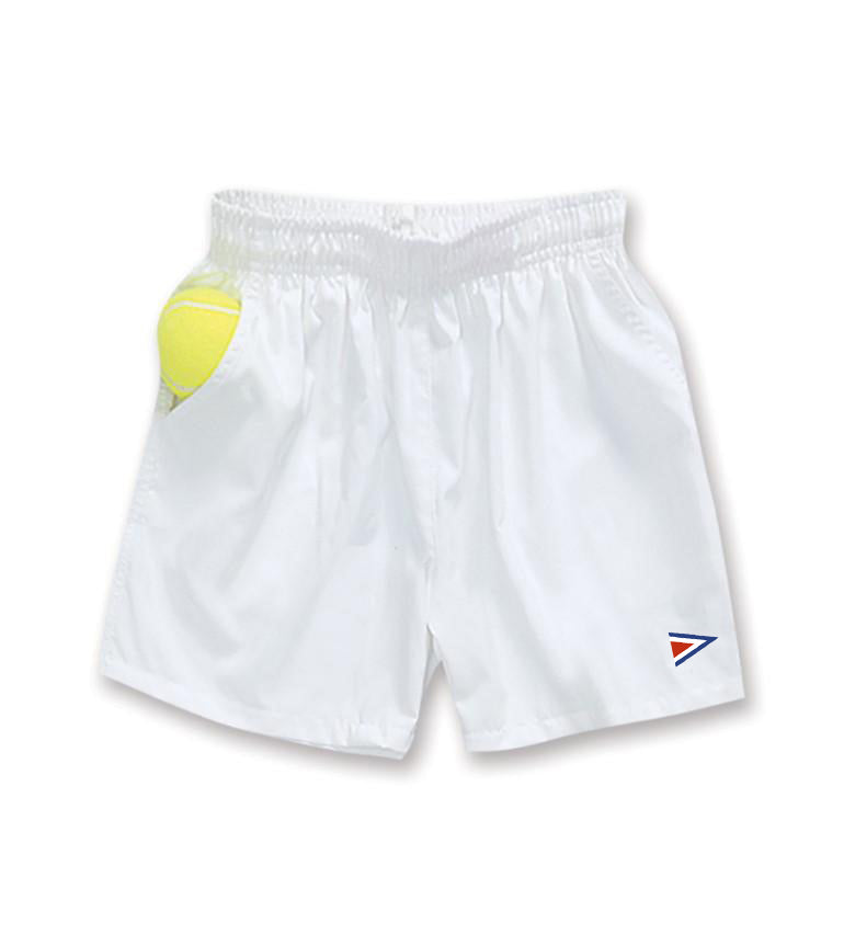 Boys Elastic White Tennis Short