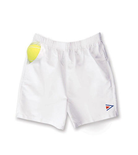Boy's MicroFiber White Tennis Short