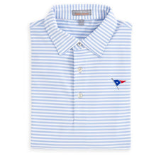 Load image into Gallery viewer, Peter Millar Men's Competition Stripe Stretch Jersey Polo With Self Collar