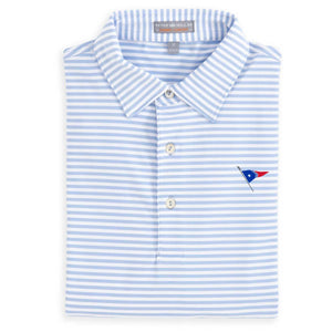 Peter Millar Men's Competition Stripe Stretch Jersey Polo With Self Collar