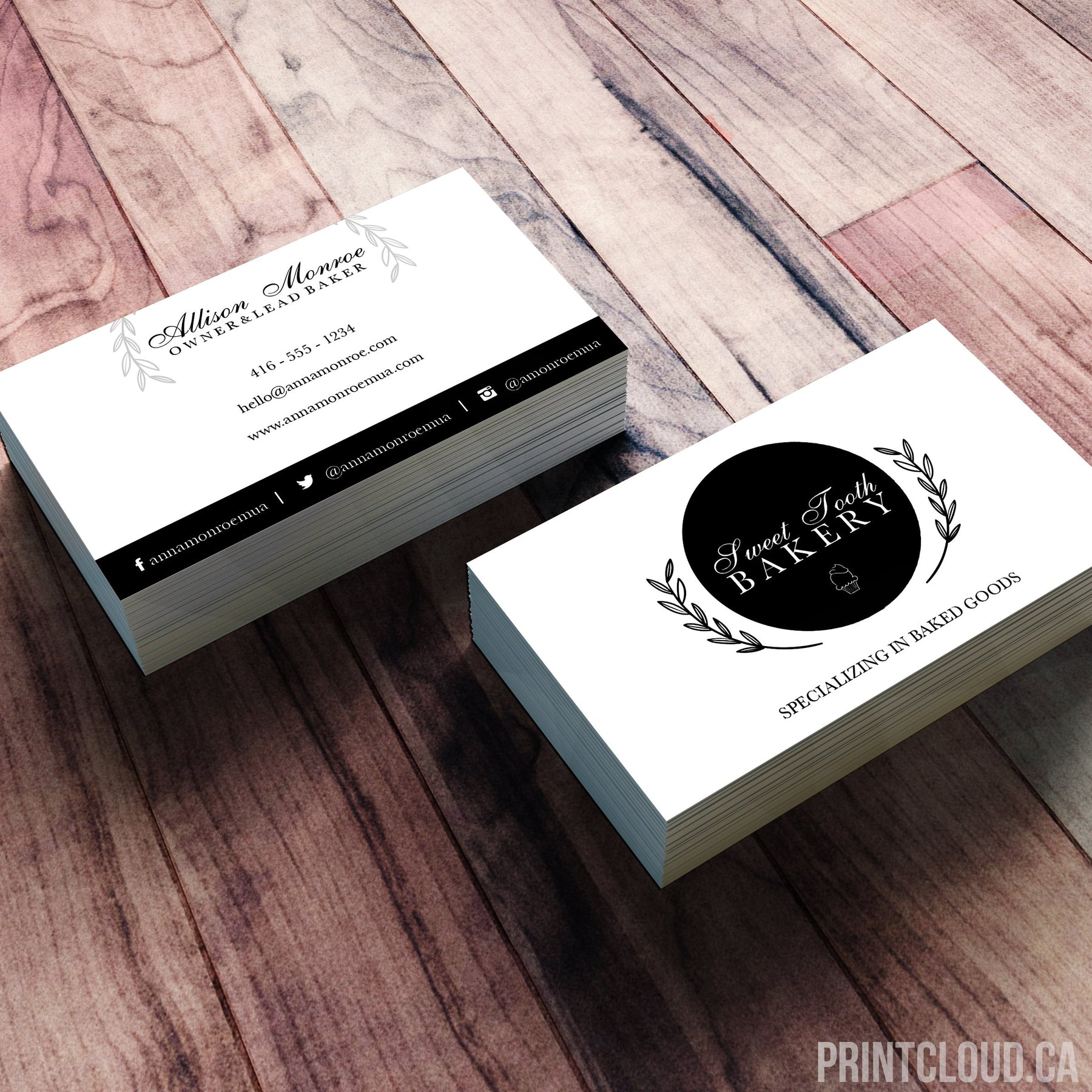 Text - Online Business Card Printing Canada