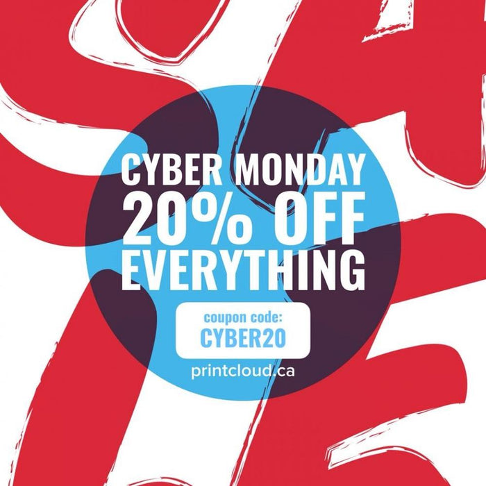 Advertisement - Cyber Monday Sale - Online Printing