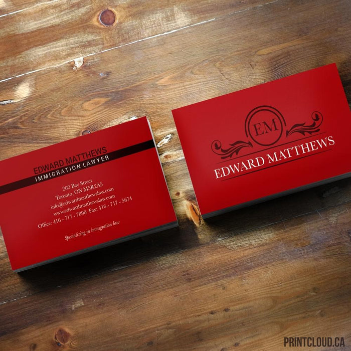 Wood - Print Business Cards Toronto