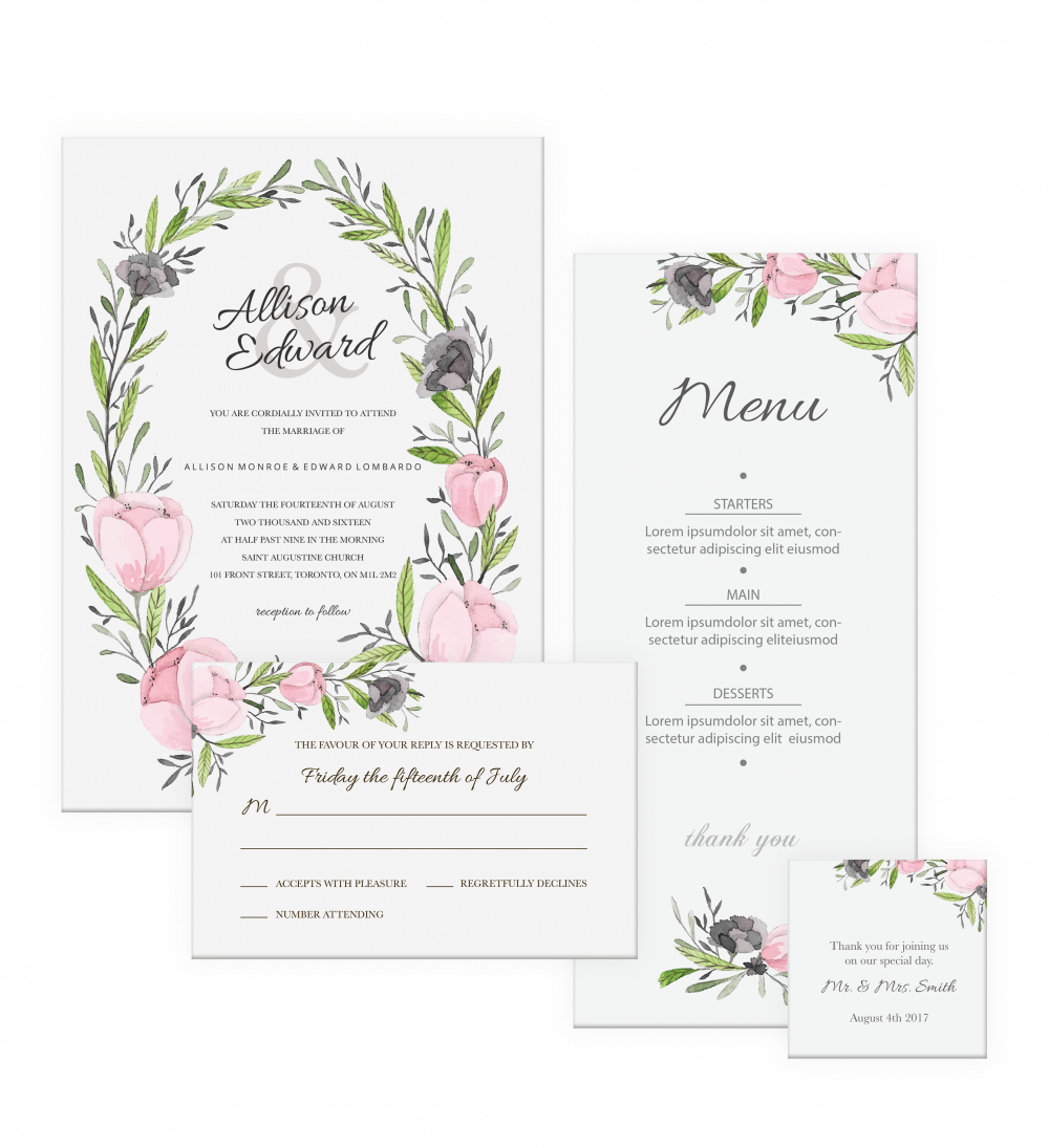 Page - Print Wedding Invitation Online Canada