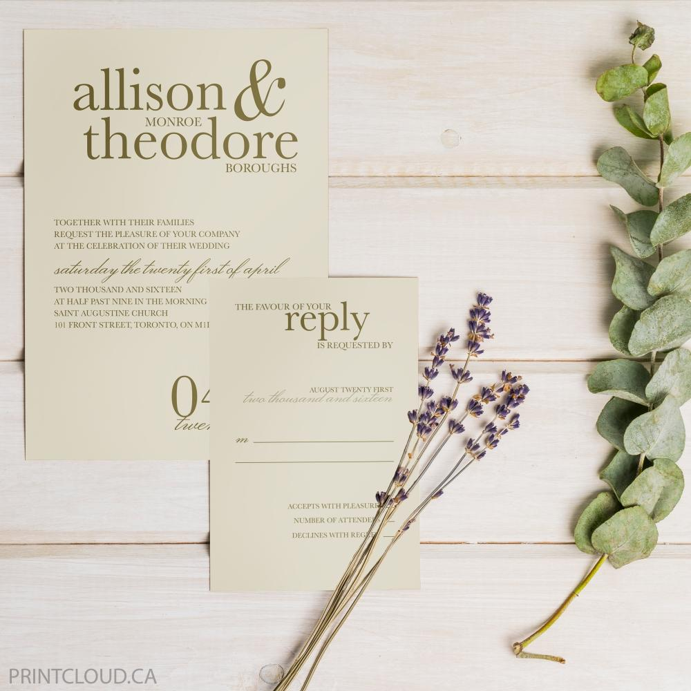 Plant - Wedding Invitation Sale - Online Printing