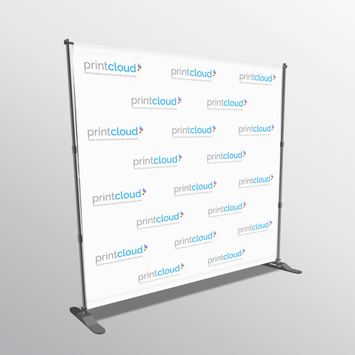Backdrop Media Banner and Stand