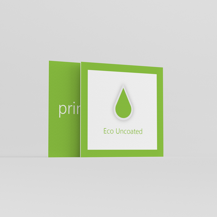 Eco Uncoated Square Business Cards