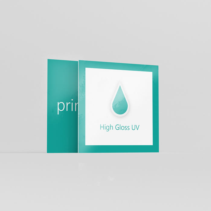 High Gloss Square Business Cards