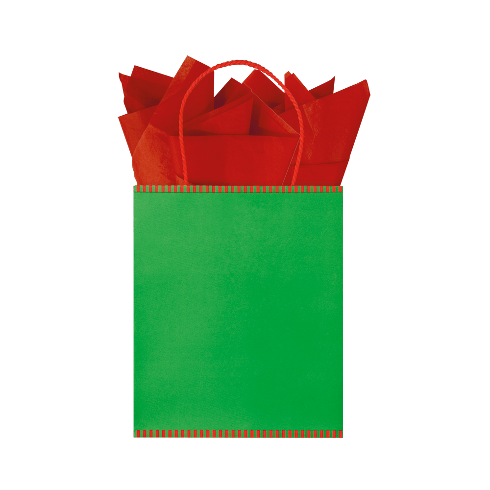 2-Tone Kraft Gift Bag - Christmas Mix