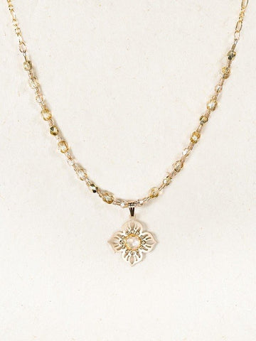 Holly Yashi Bella Flora Beaded Necklace - Gold