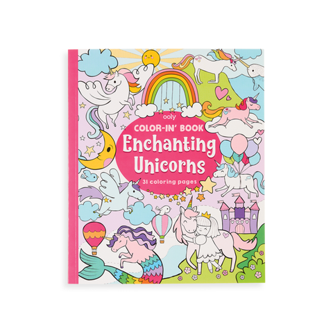 Color-in' Book Enchanting Unicorns