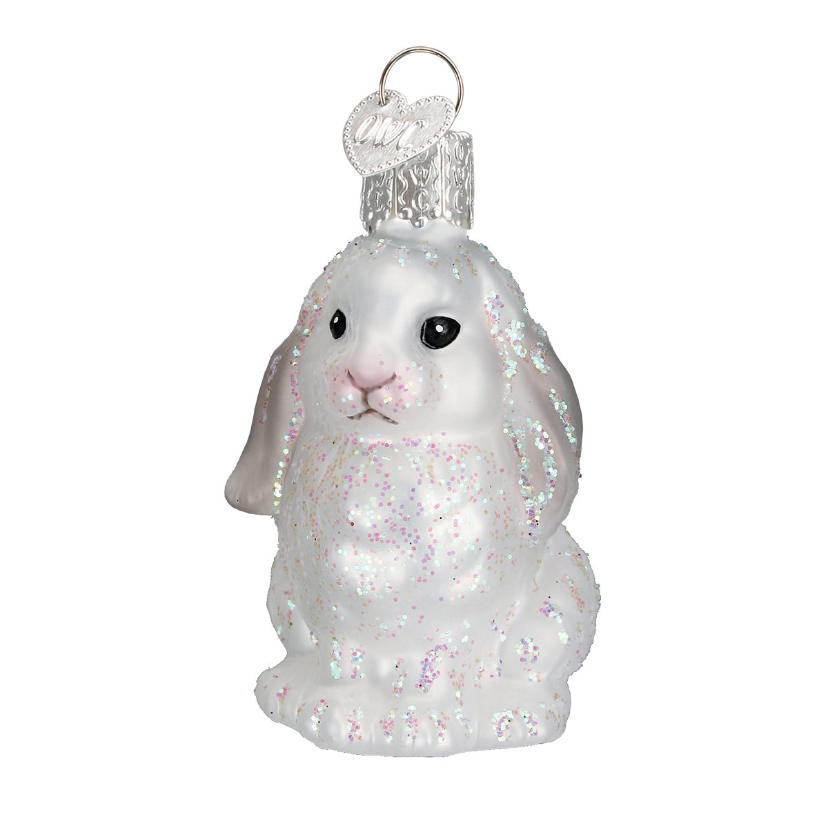 Old World Christmas - White Baby Bunny Ornament
