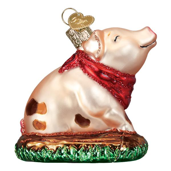 Old World Christmas - Piggy In The Puddle Ornament