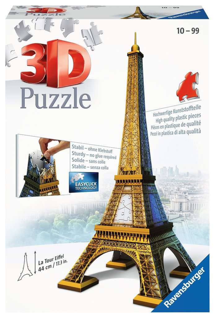 Eiffel Tower - 216 Piece 3D Puzzle