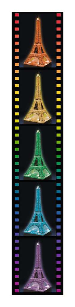 Eiffel Tower Night Edition - 216 Piece Lighted 3D Puzzle