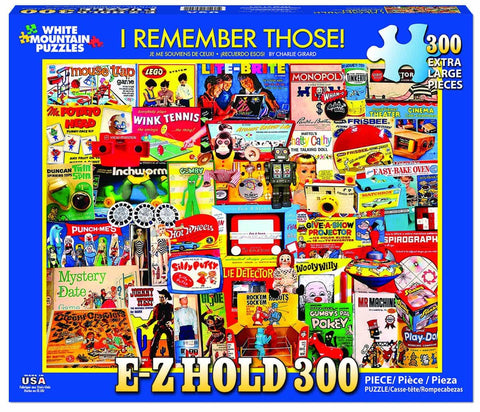 I Remember Those! Large Format 300 Piece Puzzle