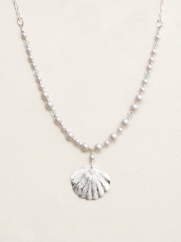 Holly Yashi Shelby Beaded Necklace - Silver