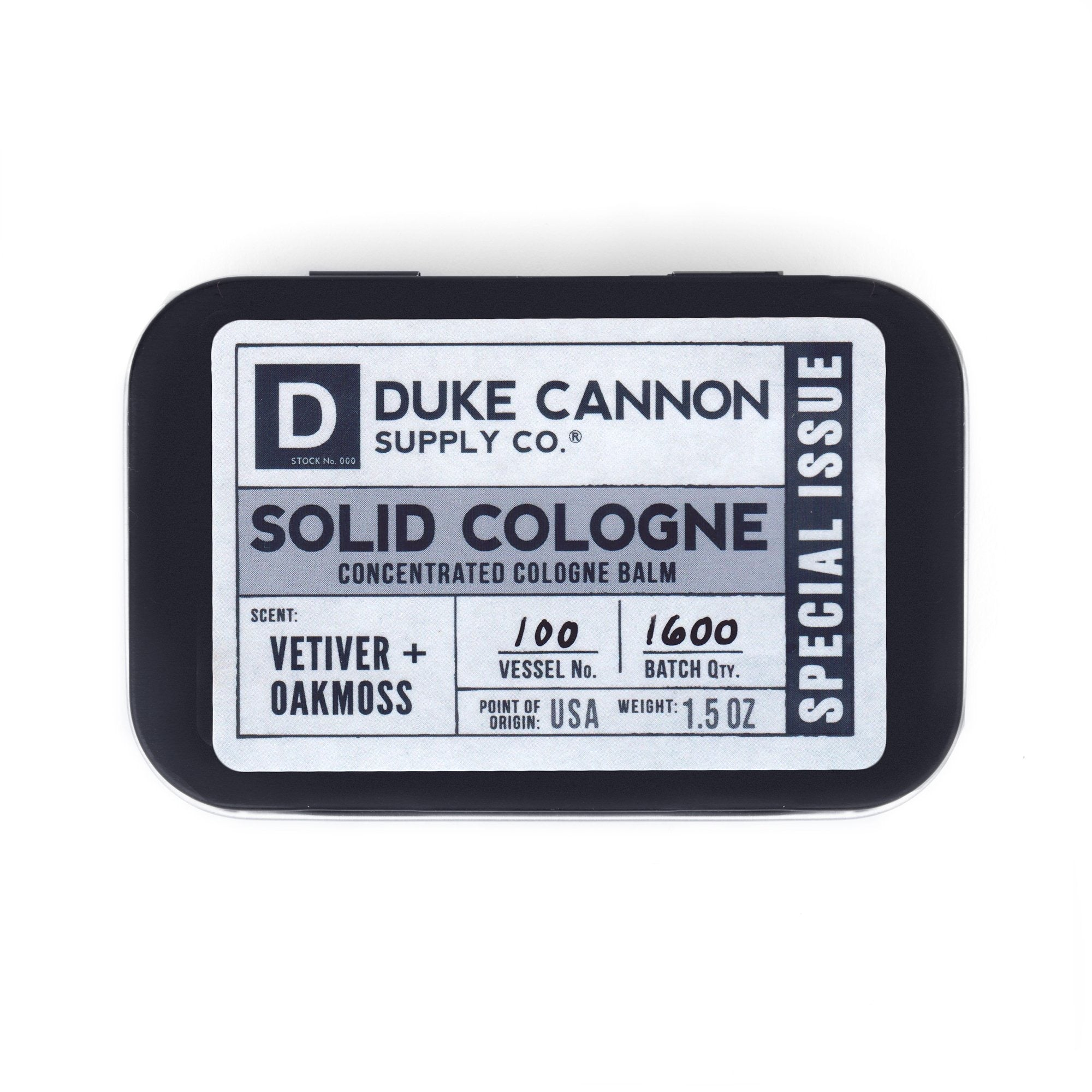 Duke Cannon Solid Cologne - Special Issue Vetiver & Oakmoss
