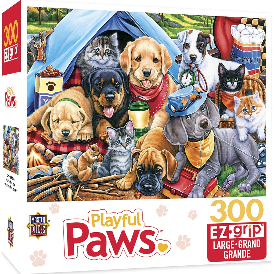 Playful Paws - Camping Buddies 300 Piece Large Format Puzzle