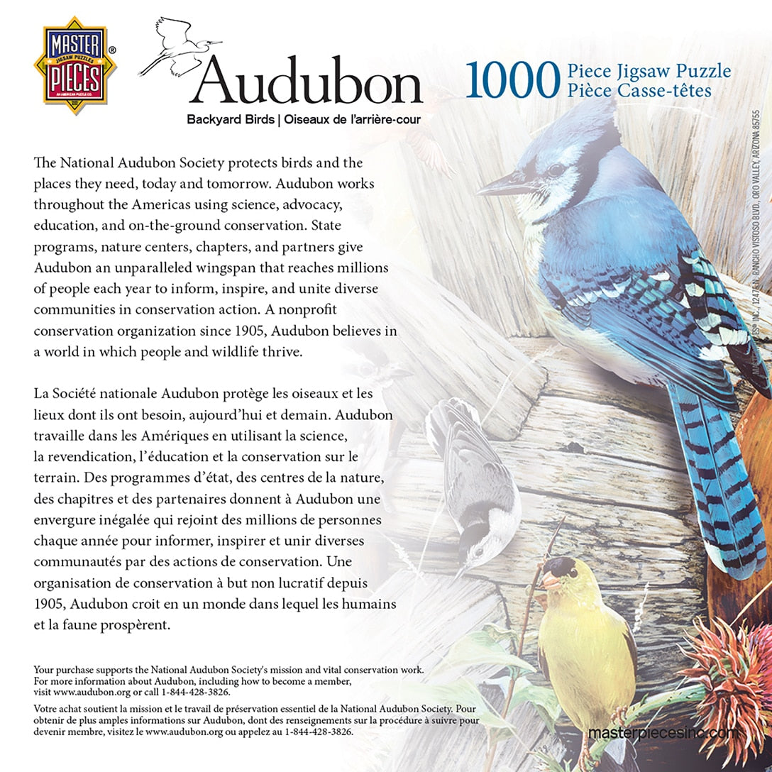 Audubon Backyard Birds 1000 Piece Puzzle