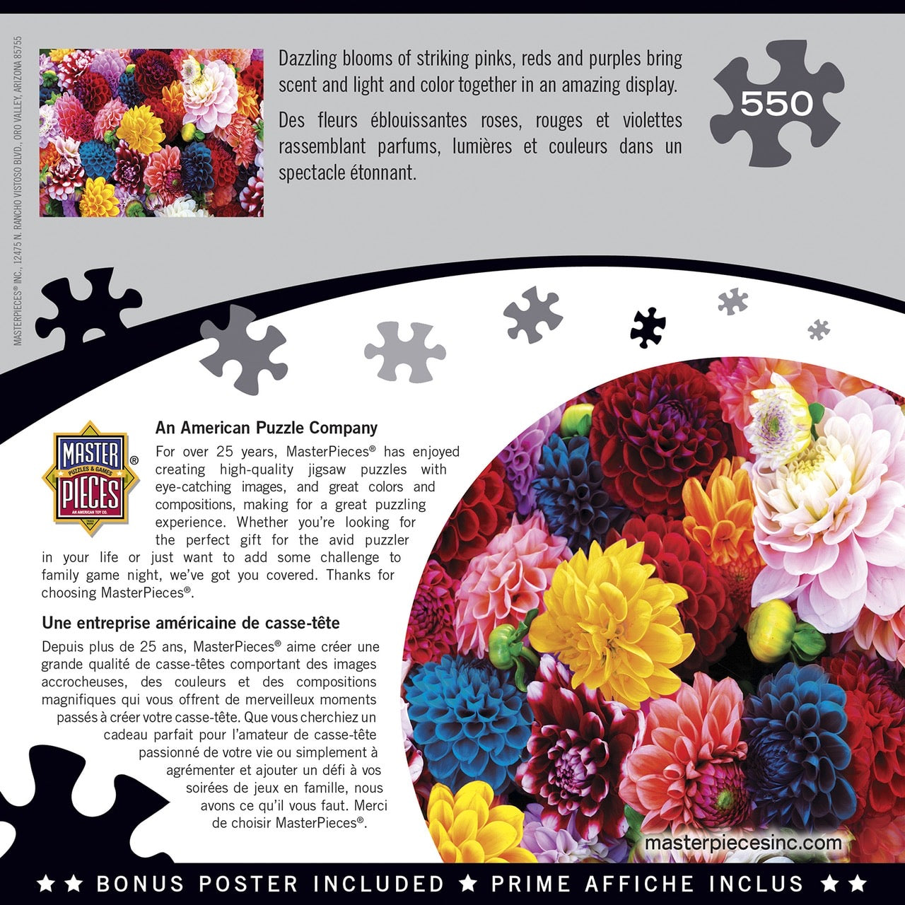 Beautiful Blooms 550 Piece Puzzle