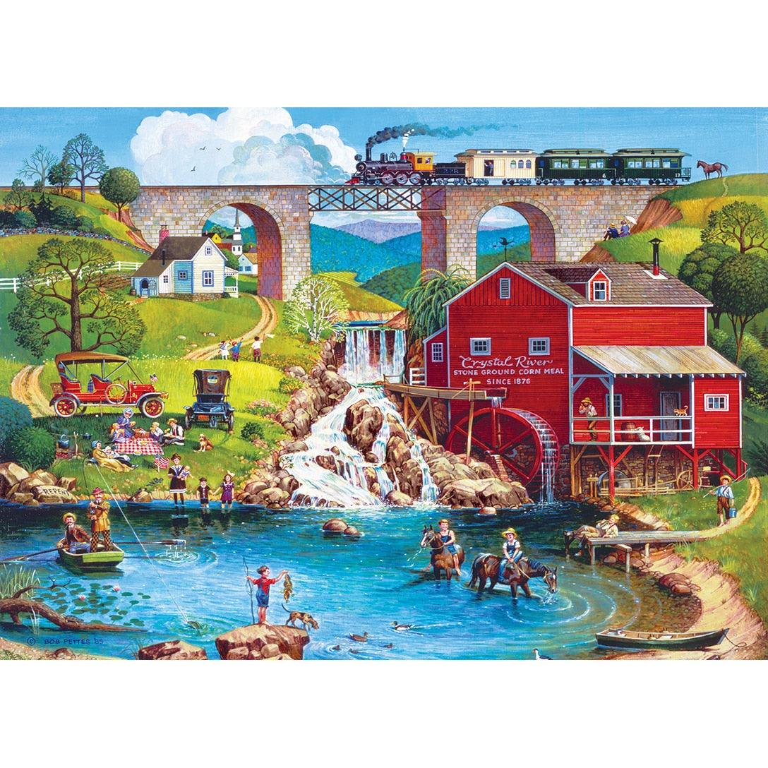 Americana - Labor Day 1909 500 Piece Large Format Puzzle
