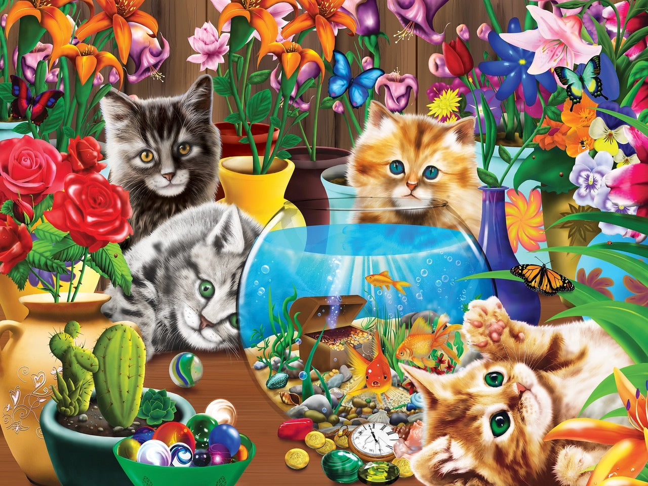 Marvelous Kittens 400 Piece Family Puzzle