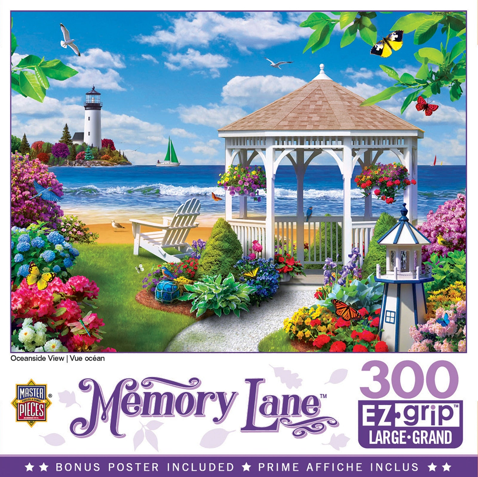 Memory Lane - Oceanside View 300 Piece Large Format Puzzle