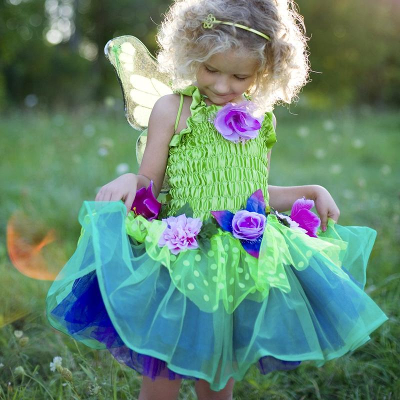 Fairy Blooms Deluxe Dress Green - Size 5-6
