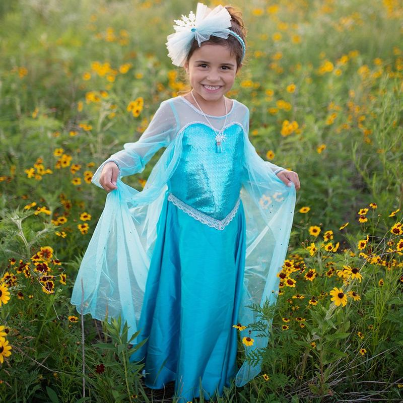 Ice Queen Dress With Attached Cape Size 5-6
